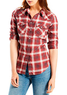 Levi's Tailored Western Shirt Fudge Plaid