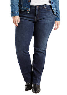 Levi's Plus Size 414 Relaxed Straight Fit Jeans