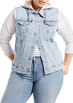 Levi's Plus Size Classic Trucker Cape Cod Jacket