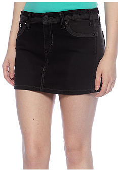 Levi's® Color Block Mini Skirt in Storm's Eye Grey