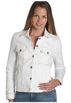 Winter White Classic Trucker Jacket
