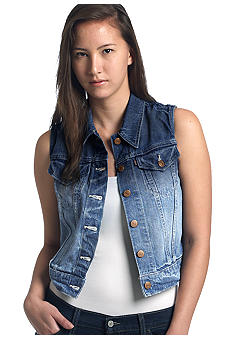 Levi's Denim Trucker Vest in Rosebud Blue