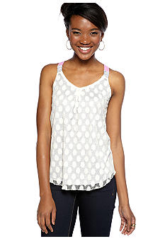 Derek Heart Knit Back Crochet Tank