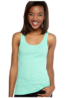 Derek Heart Solid Scoop Neck Tank