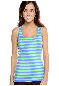 Derek Heart Stripe Scoop Neck Tank