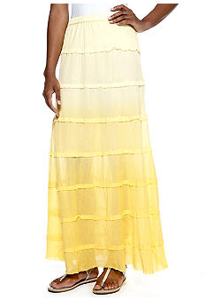 Derek Heart Tiered Gauze Maxi Skirt