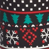 Derek Heart Activewear: Black Snowman Derek Heart Printed Leggings