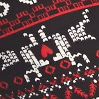 Derek Heart Activewear: Black Reindeer Derek Heart Printed Leggings