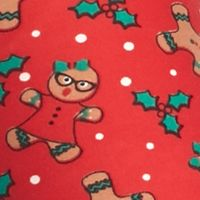 Derek Heart: Red Gingerbread Derek Heart Printed Leggings