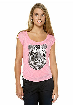 Derek Heart Animal Print Muscle Tee