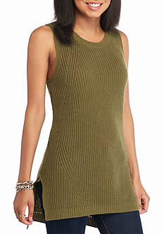 Derek Heart Sleeveless Zip Sided Tunic