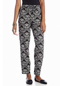 Bandolino Sasha Floral Print Soft Pant