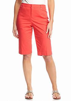 Bandolino Petite Ivette Twill Bermuda Shorts