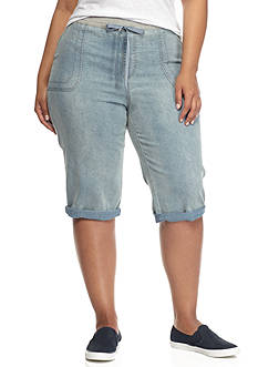 Bandolino Plus Size Cecilia Denim Skimmer Pants