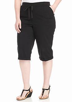 Bandolino Plus Size Cecilia Twill Skimmer Pants