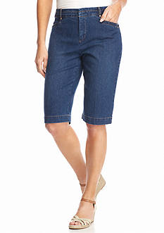 Bandolino Petite Ivette Denim Bermuda Shorts