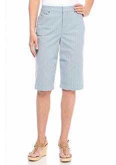 Bandolino Ivette Stripe Bermuda Shorts