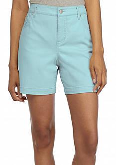 Bandolino Embellished Mandie Perfect Fit Twill Shorts
