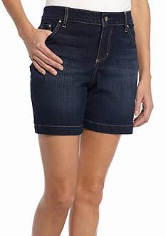 Bandolino Petite Mandie Embellished Jean Shorts