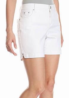 Bandolino Petite Mandie Embellished Twill Shorts