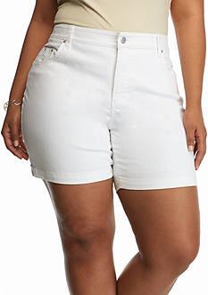 Bandolino Plus Size Mandie Embellished Twill Shorts