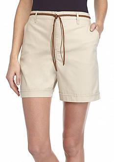 Bandolino Ines Belted Roll Cuff Shorts