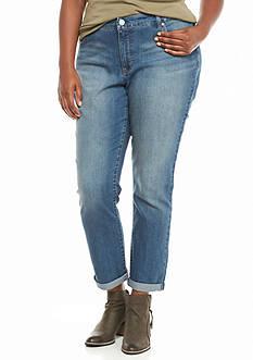 Bandolino Plus Size Karyn Slim Boyfriend Jeans