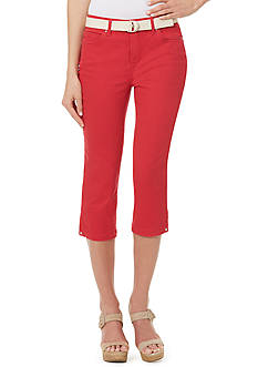 Shorts & Capris: Womens Red Capris & Skimmers | Belk