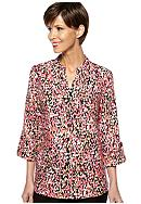 Kim Rogers® Pleated Bib Front Linen Top