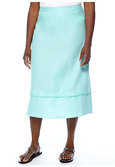 Kim Rogers® Plus Size Linen Tiered Skirt