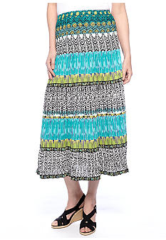 Choices Printed Tier Skirt