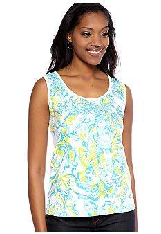 Choices Printed Front Sleeveless Tank