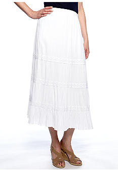 Choices Gauze Skirt with Lace Trim