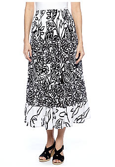 Choices Printed 5 Tier Gauze Skirt