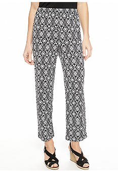Choices Printed Crop Pant with Elastic Waist