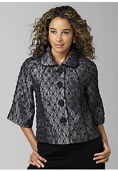 ChoicesRaglan Sleeve Jacquard Jacket - Belk.com
