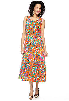 Choices Printed Sleeveless Dress