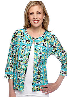 Choices Printed Three Quarter Sleeve Jacket