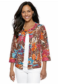 Choices Printed Jewel Neck Jacket