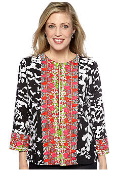 Choices Paradise Island Printed Embroidered Jacket.