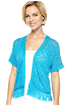 Solid Dolman Sleeve Open Front Shrug