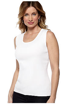 Choices Sleeveless Jewel Neck Tank