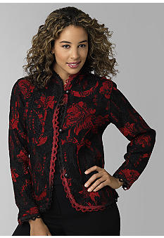 Choices Long Sleeve Chenille Tapestry Jacket - Belk.com