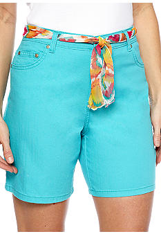Kim Rogers Short With Paisley Belt