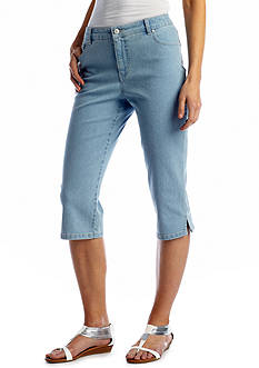 Kim Rogers® Embroidered Pocket Jean Capri