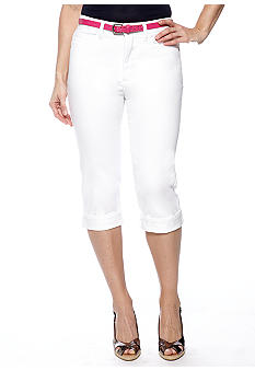 Lee&reg Platinum Norma White Capri With Belt