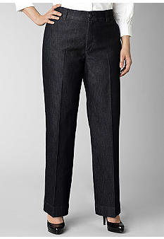 Lee&reg Platinum Plus Size Gap Free Waist Denim Monaco Trouser