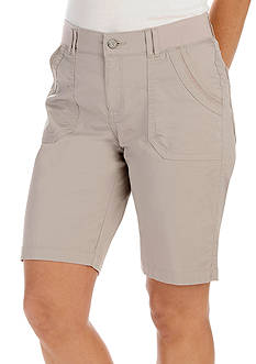 Lee&reg Platinum Petite Shiloh Knit Waist Bermuda Shorts