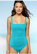 Calvin Klein Pleated One Piece Swim Suit