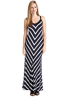 Karen Kane Miter Maxi Strap Dress